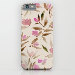 Spring in San Marino - watercolor florals iPhone Case