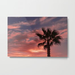 Palm Sunset - 10 Metal Print