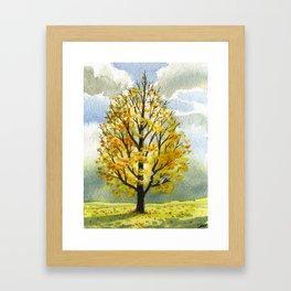 Yellow Dusk, Briars Golf Course Framed Art Print