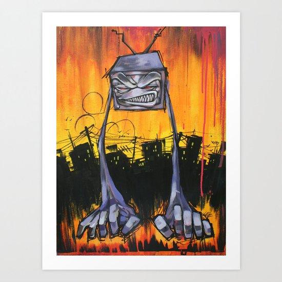 Slum TV Art Print