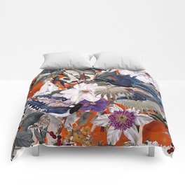 Floral and Birds XXVI Comforters