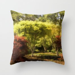 A Walk In The Woods Painting Throw Pillow