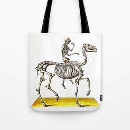 Horse Skeleton & Rider Tote Bag