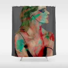 painted girl 1 Shower Curtain