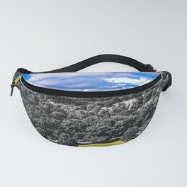 Acres of Trees and Sky Color and Black & White Mashup Fanny Pack