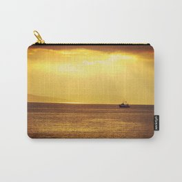 Going Fishing at sunset Carry-All Pouch