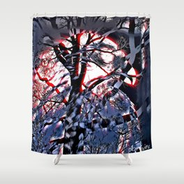 Intruder Incognito; red - Hawk, v6 Shower Curtain