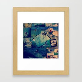 Surfers  Framed Art Print
