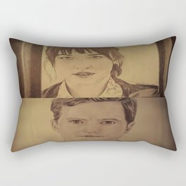 Christian and Ana elevator 1/2 - FIFTY SHADES OF GREY Rectangular Pillow