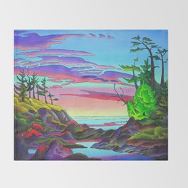 Pacific Pacific by Amanda Martinson Throw Blanket