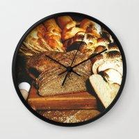 food Wall Clocks featuring Food by Kathrin Legg
