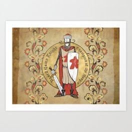 Board Game Knight - Medallion Art Print