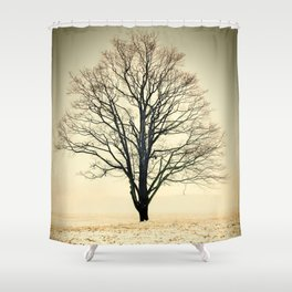 Standing In The Cold Shower Curtain