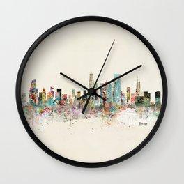 chicago skyline Wall Clock