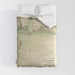 Map of Louisiana and Florida Gulf Coast (1778) Comforters