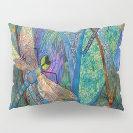 Colorful Dragonflies Pillow Sham