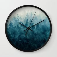 wanderlust Wall Clocks featuring The Heart Of My Heart // So Far From Home Edit by Tordis Kayma