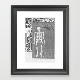 SKELETON IN THE CLOSET Framed Art Print