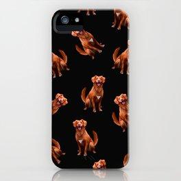 Cute Artsy Golden Retriever Dog Pattern iPhone Case