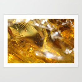 Glass Macro Art Print