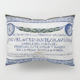 Cervantes Homage in Cordoba Pillow Sham