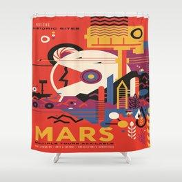Mars Tour : Space Galaxy Shower Curtain