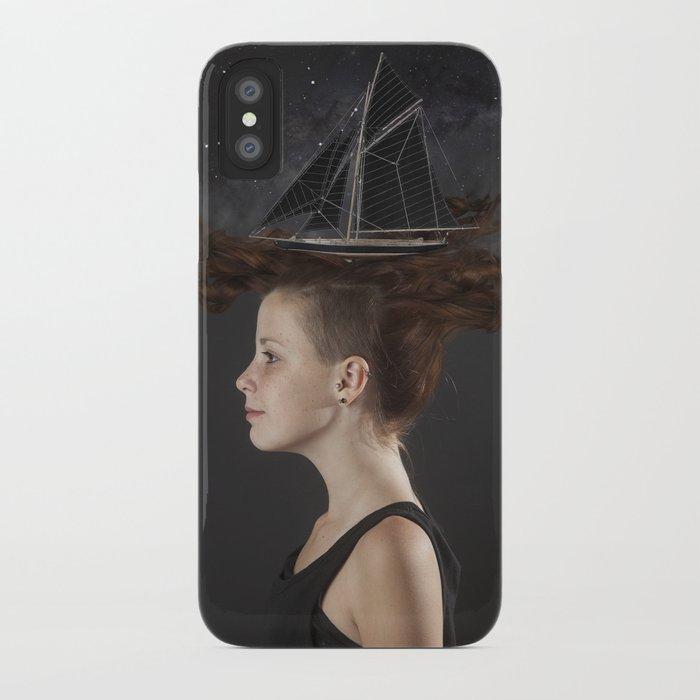 Sailing - Black iPhone Case