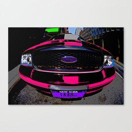 NYC Taxi Cab - HOT! Pink Canvas Print
