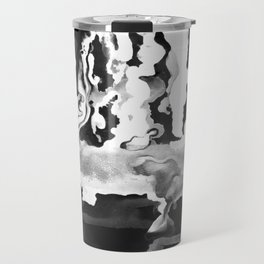 Dripping Tease in White and Black Travel Mug