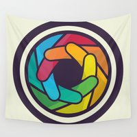 iris Wall Tapestries featuring Iris by Zoltan Nyaray