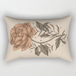 Peony and Ferns Rectangular Pillow