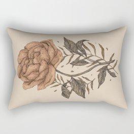 Peony and Ferns Rectangular Pillow