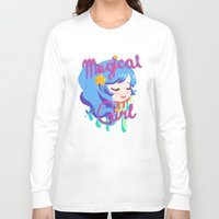 magical girl Long Sleeve T-shirts featuring Magical Girl by Ferret Party