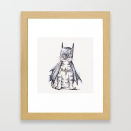 Bat Cat Framed Art Print