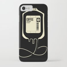 Coffee Transfusion - Black iPhone 7 Slim Case