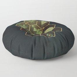 Bees in Space Floor Pillow