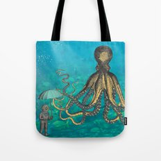 Octopus & The Diver Tote Bag