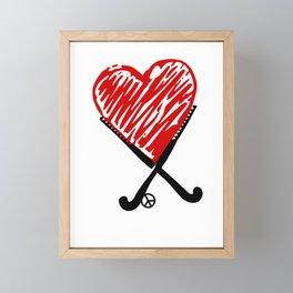 Field Hockey Player Goalie Coach Lover gift Hockey Framed Mini Art Print