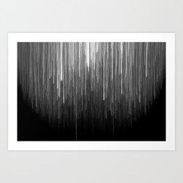 The Lights (Black and White) Art Print