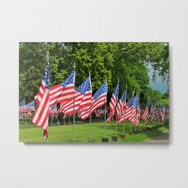 Flags Flying in Memoriam II Metal Print