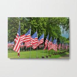 Flags Flying in Memoriam II Metal Print