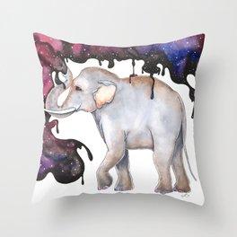 Galaxy Elephant Throw Pillow