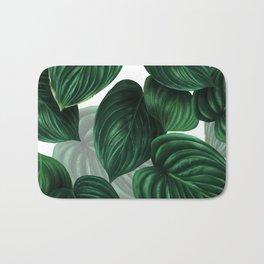 tropical green pattern Bath Mat