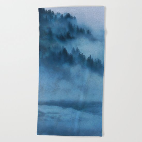 Forest Above the Clouds Beach Towel