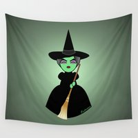wicked Wall Tapestries featuring Kokeshi Wicked by Pendientera