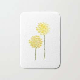 two abstract dandelions watercolor Bath Mat