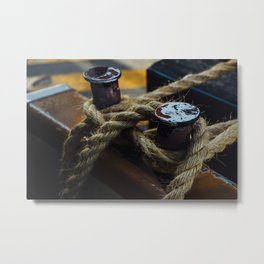 Vaporetto Tie Up Metal Print