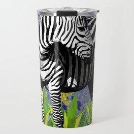 ZEBRA YELLOW ORCHIDS TROPICAL BLOOM Travel Mug