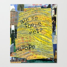 Europe by Seattle Artist Mary Klump Canvas Print