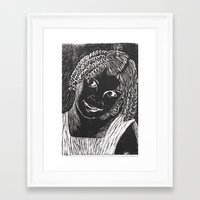 valentina Framed Art Prints featuring valentina by Maite Trabadelo